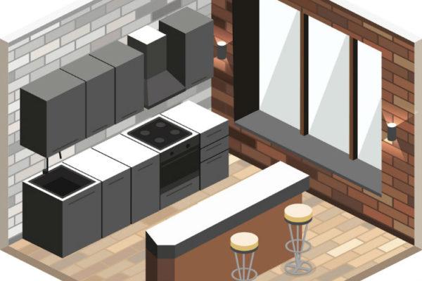 3D Küchenplaner - geplante Küche