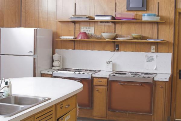 Antike Küche aus den 70er Jahren