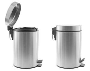 Chrom Abfallbehälter