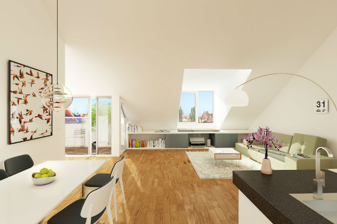 der dachausbau im neubau vor und nachteile wohnungs. Black Bedroom Furniture Sets. Home Design Ideas