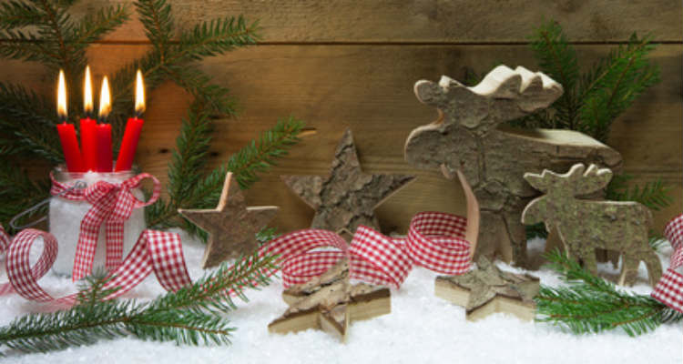 Hirschdeko zu Weihnachten