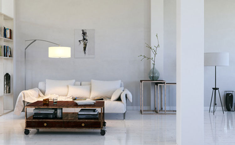 einrichtung schlafzimmer skandinavisch: wandpaneele holz weiss