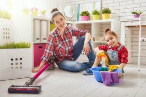 Die Wohnung mit praktischen Haushaltsgeräten sauber halten