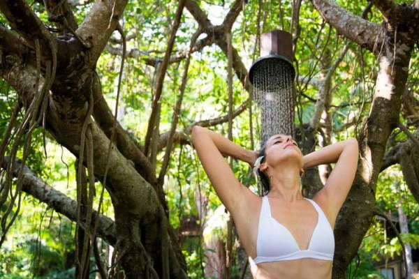 Duschen im Freien - DIY Gartendusche