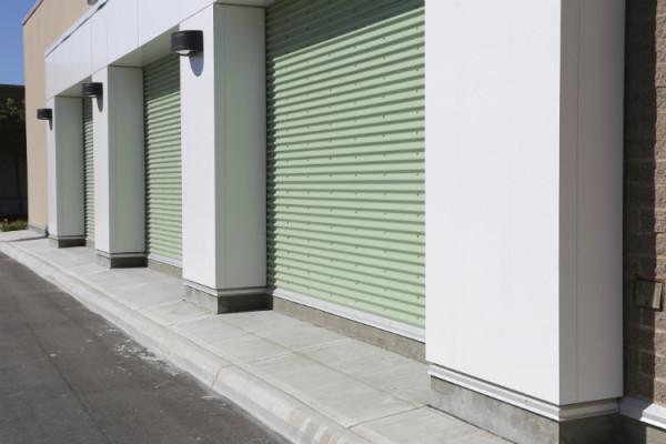 Elektrische Garagentore geschlossen