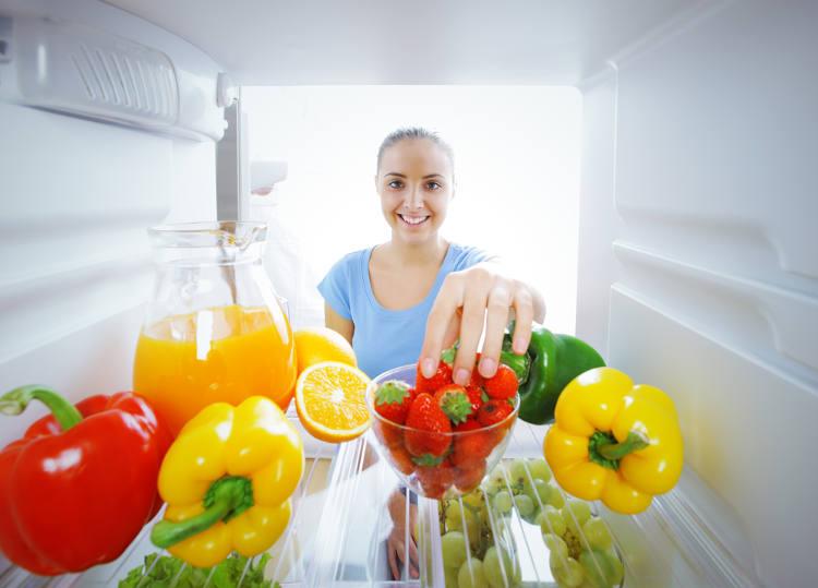 Ein Blick in den Kühlschrank