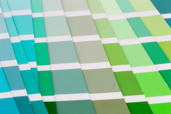 Farbstreifen in Petrol, Grün, Blau zum Kombinieren