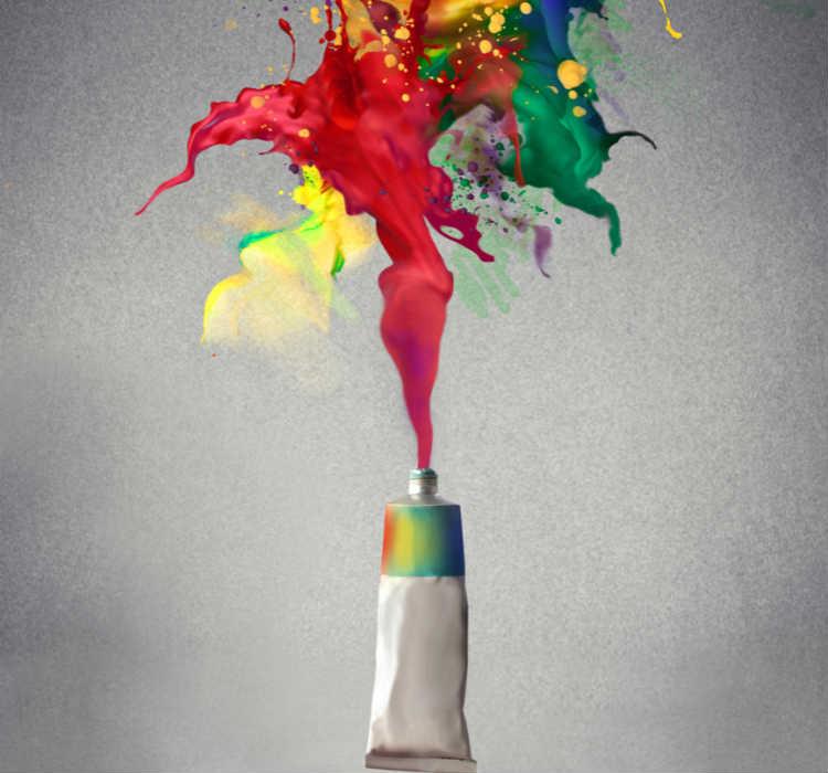 Farbtube mit Farbe