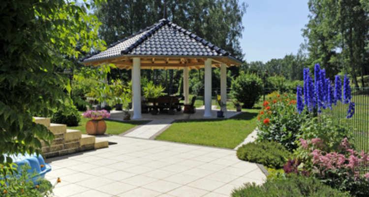 Der Pavillon als Rückzugsort im Garten