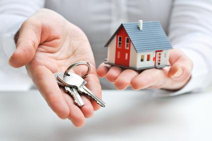 Umzug - Schlüssel und Modellhaus
