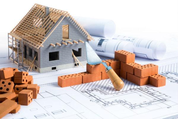 Ablauf beim Hausbau - Grundrisse, Modellhaus, Steinmauer
