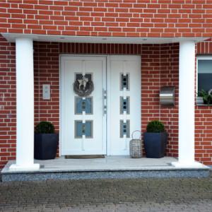 Elegante Eingangstür