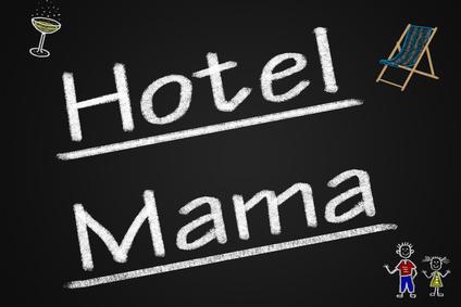 """Immer weniger """"Kinder"""" wollen auf den Komfort im Hotel Mama verzichten"""