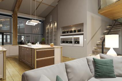 Die Lichtkonzepte in modernen Wohnungen sind interessant