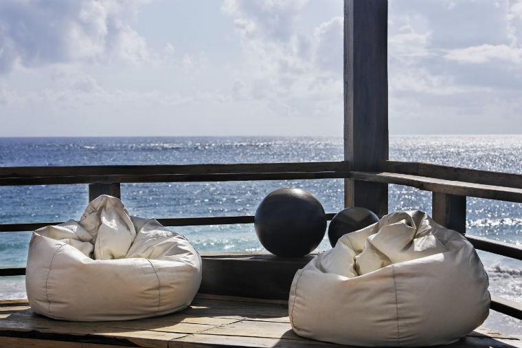 Sitzsäcke am Meer