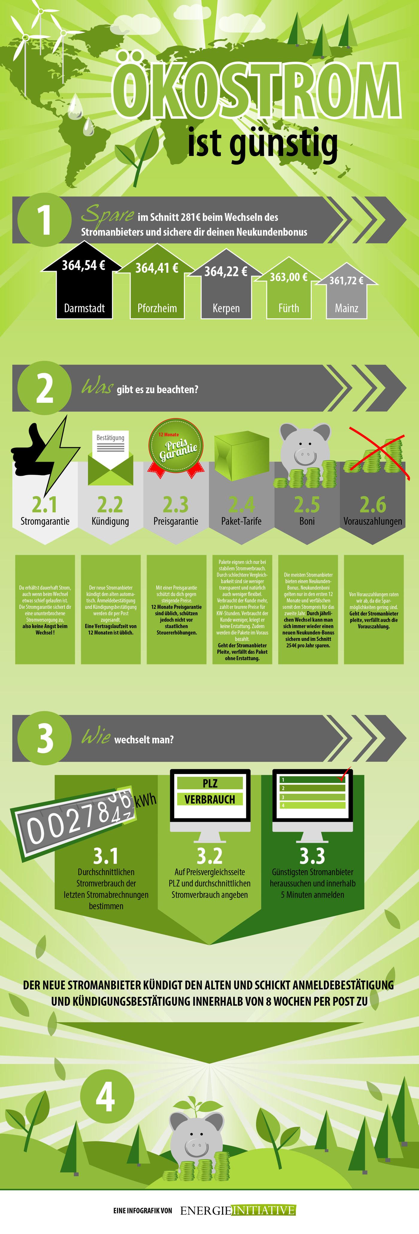 Infografik zum Ökostrom