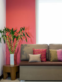 Wand Farbe Streifen