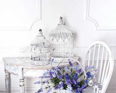 Weiße Möbel im Landhausstil