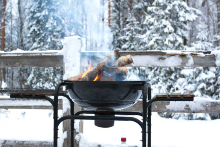Im Winter grillen