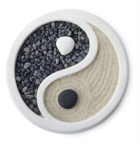 Yin und Yang Dekoration