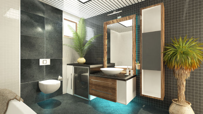 modernes badezimmer fliesen gemütliches design-ideen kleinen bad ...