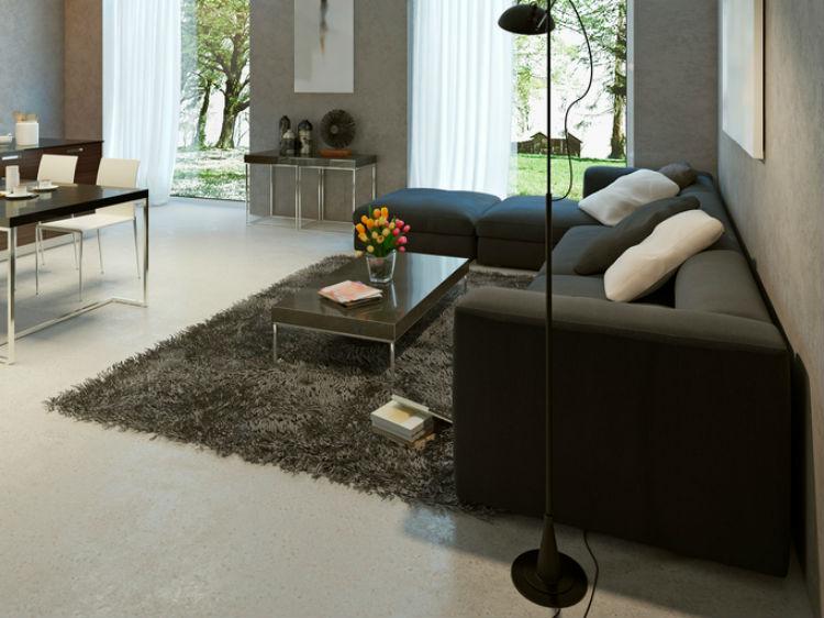 dunkle Möbel im Wohnzimmer