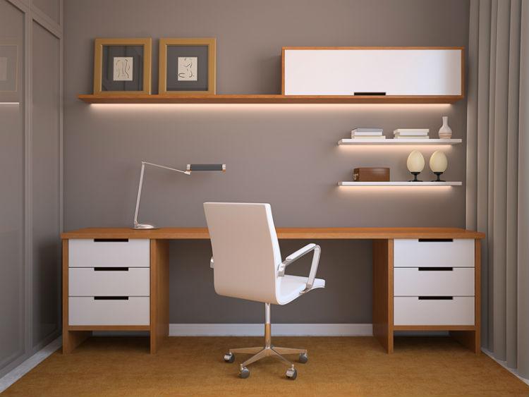 Arbeitszimmer farbgestaltung  So wird das eigene Arbeitszimmer zu einem trendigen und modernem ...