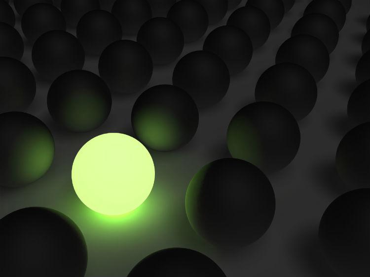 grüne runde Lampe