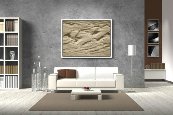 Wohnzimmer Wandfarbe grau - Einrichtungsbeispiel