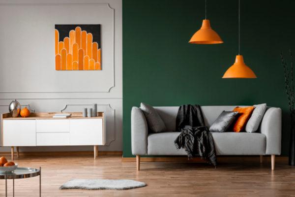 Modernes, farbiges Wohnzimmer