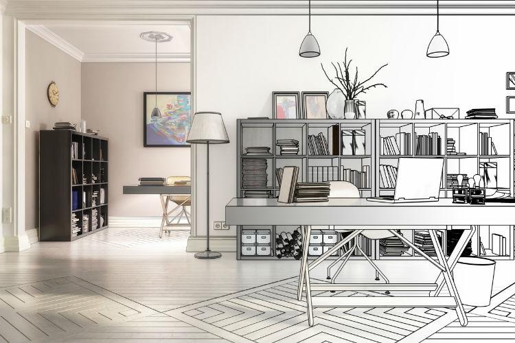 Modernes und stylisches Büro