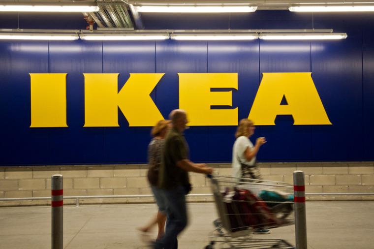 IKEA Aufschrift an der Wand