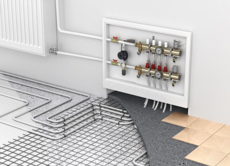 Fußbodenheizung (technische Darstellung)
