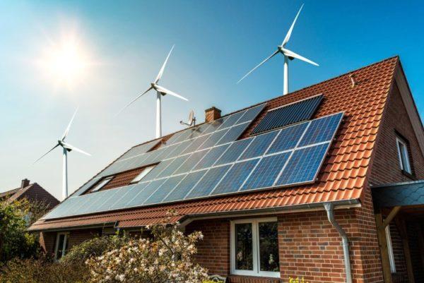 Photovoltaik auf einem Einfamilienhausdach