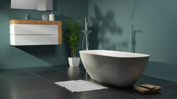 Modernes Badezimmer mit Grüntönen