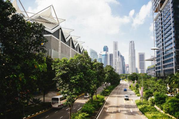 Moderne und grüne Stadt