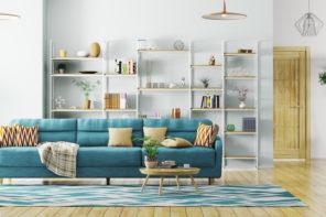 Clever Stauraum im Wohnzimmer schaffen