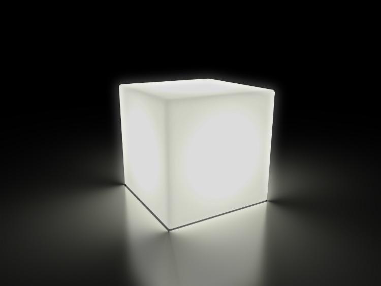 weiße Cube Lampe