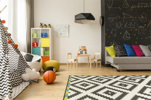 Ansicht eines Kinderzimmers